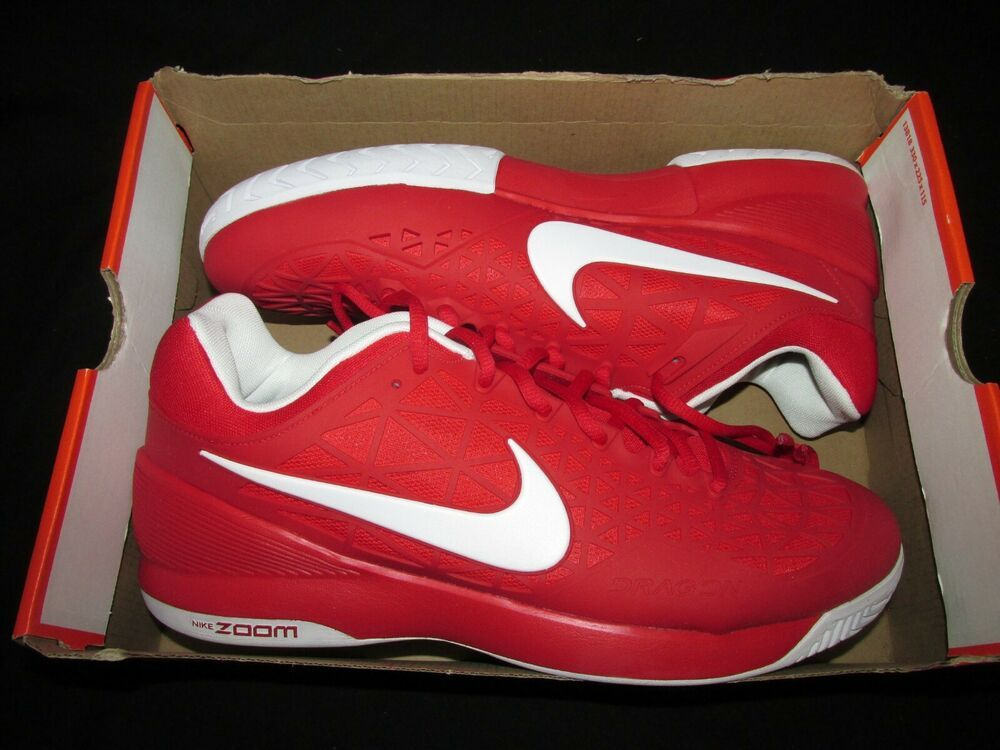 Nike Air Zoom Cage 2 Tennis Shoes Mens 11 University Red White Nike Tennisshoes Nike Air Zoom Tennis Shoes Nike