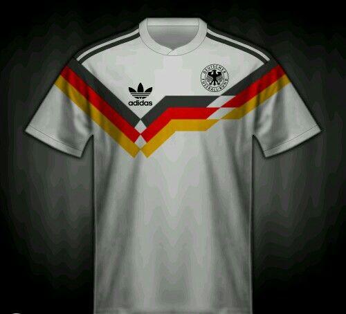 West Germany Home Shirt For The 1990 World Cup Finals Camisas De Futebol Futebol Clubes