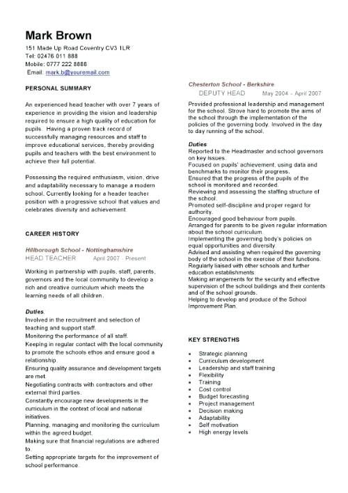 For Teachers | Sample resume, Teacher resume template and Template