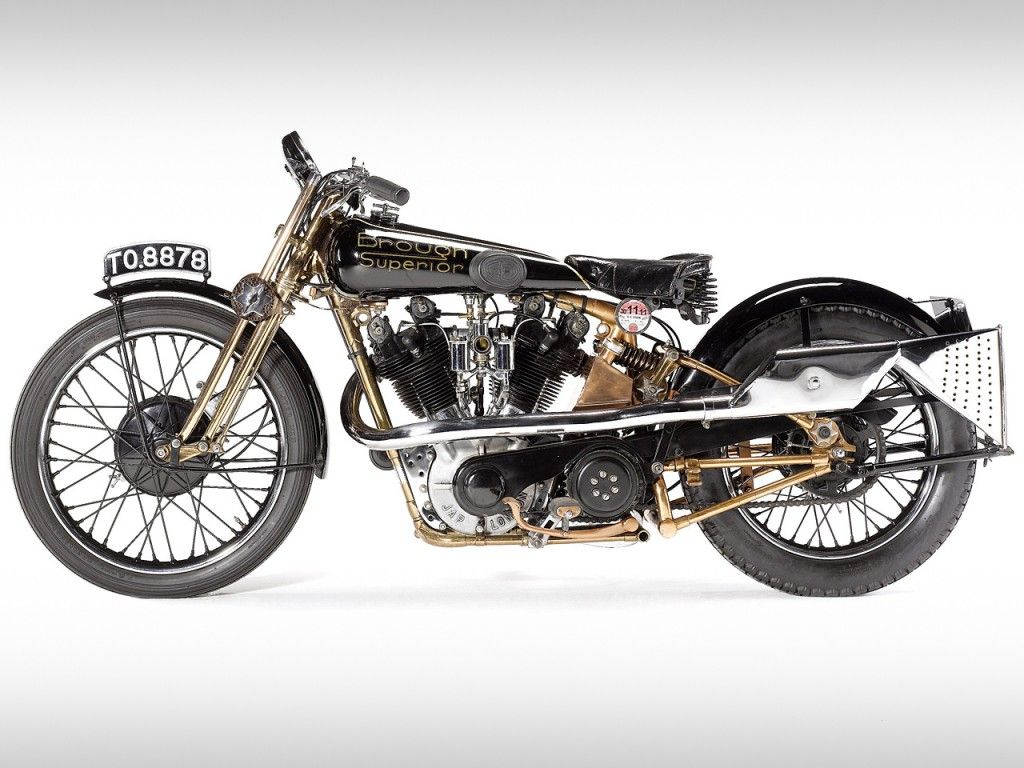1929 Brough Superior SS100  Most expensive motorcycle ever seen at auction.