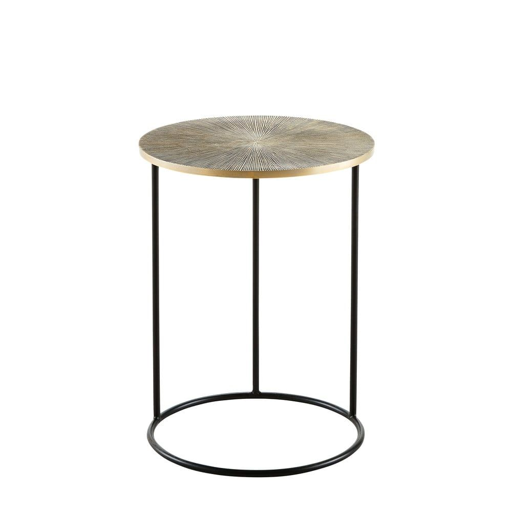 Black And Bronze Metal End Table In 2020 Metal End Tables End Tables Table
