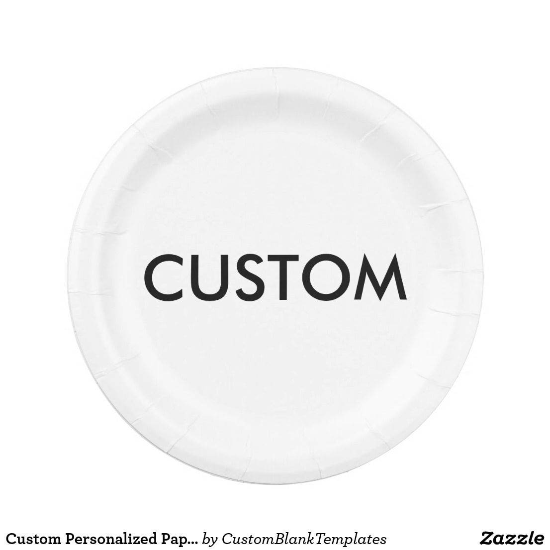 Custom Personalized Paper Plate Blank Template  sc 1 st  Pinterest & Custom Personalized Paper Plate Blank Template | Custom Personalized ...