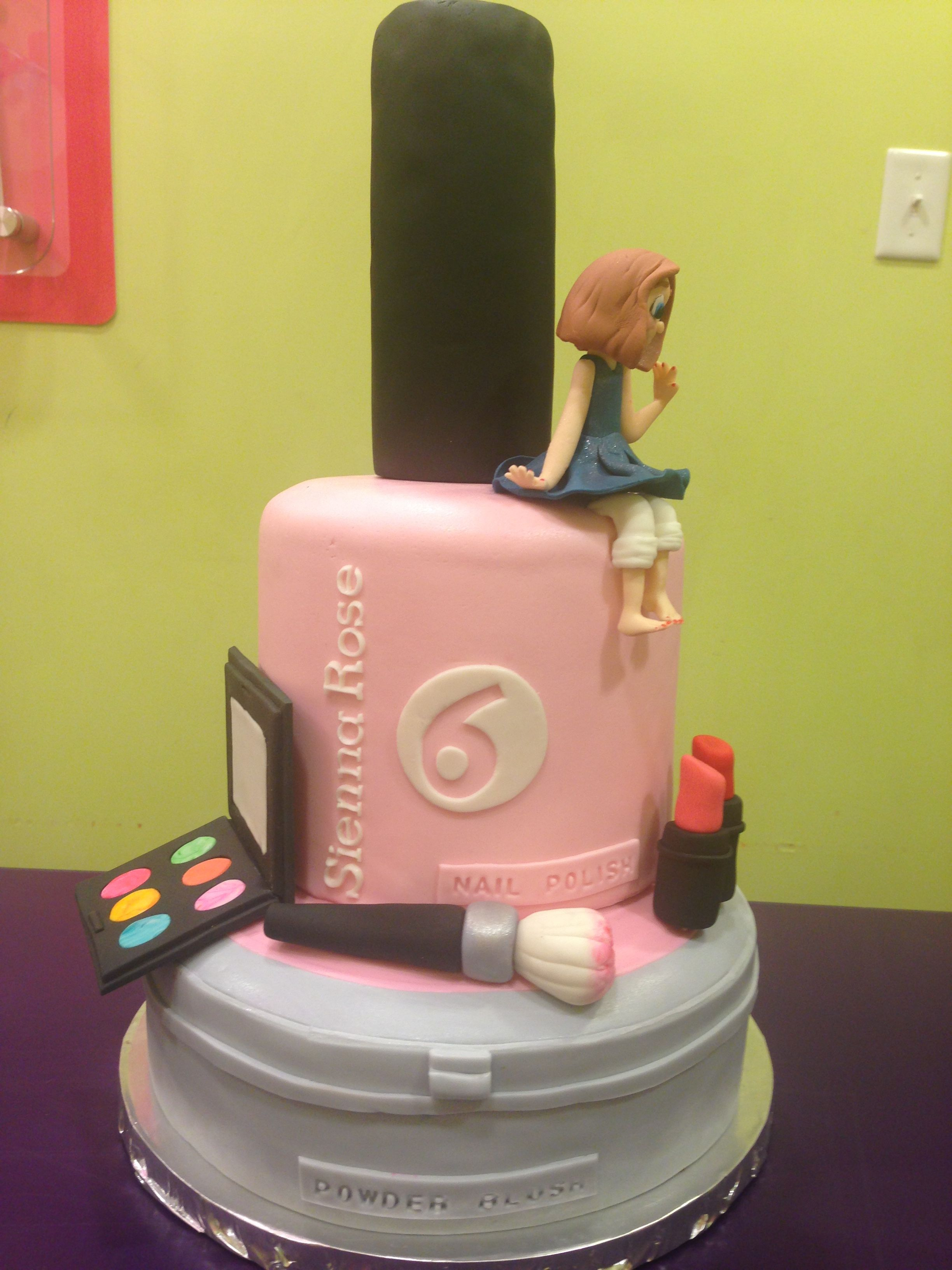 Salon Birthday Party Cake Party Cakes Cake Birthday Party Cake