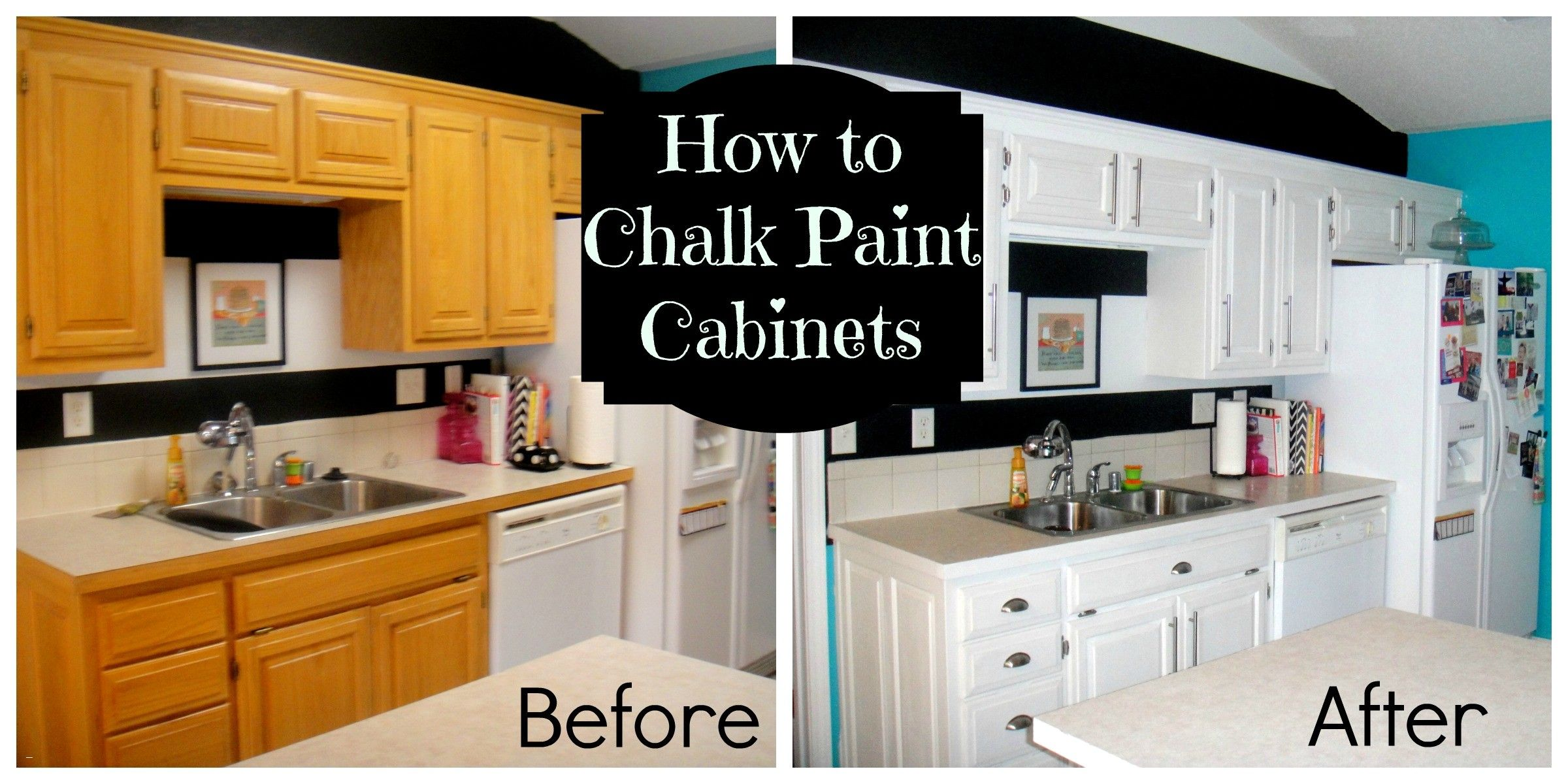 Oak Cabinets Awesome Chalk Paint