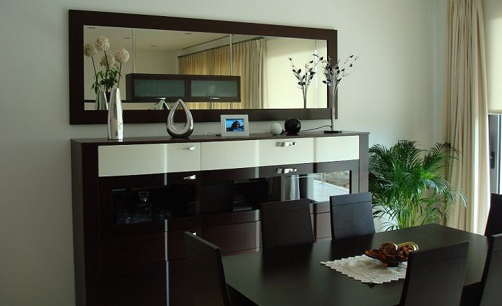 Credenza Moderna Con Espejo : Espejos decorativos para comedor buscar con google sala