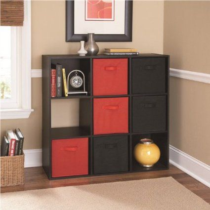 Bon Amazon.com   Ameriwood 9 Cube Storage Bookcase   Black Cubby Storage Unit