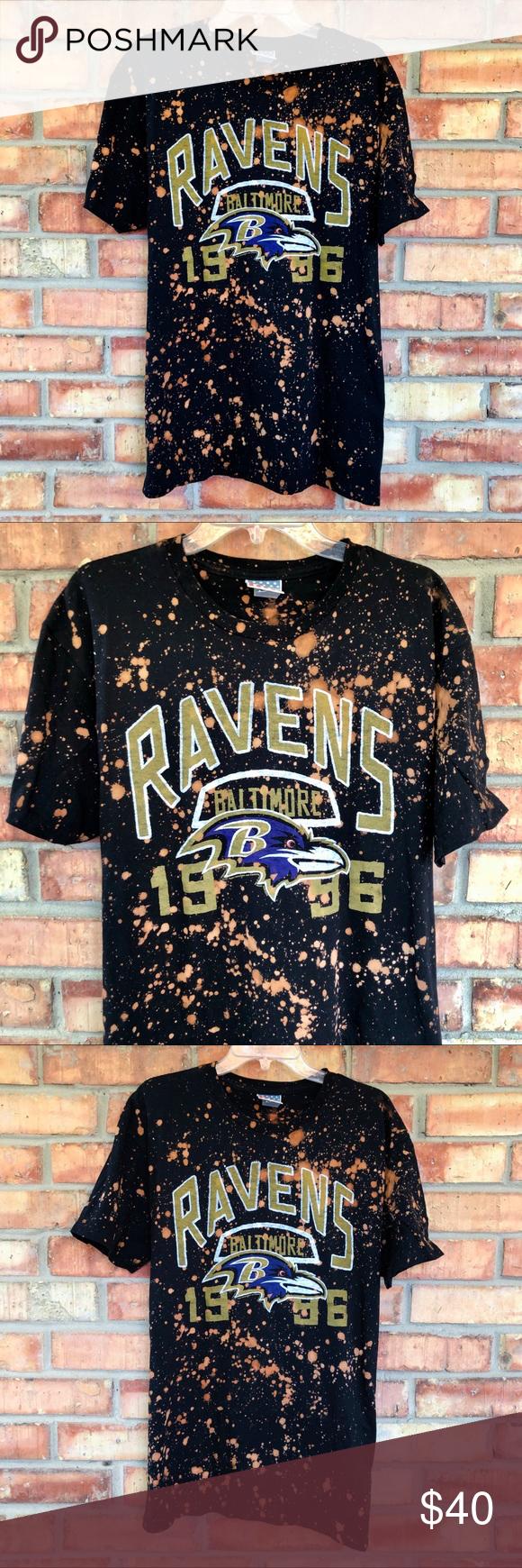 Baltimore Ravens NFL Football Logo Splatter Tee in 2020