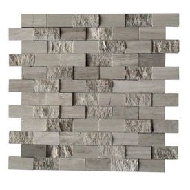 Cci Grey Marble Split Face Natural Stone Mosaic Subway Wall Tile Common 12