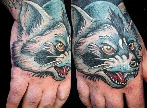 Evil Wolf Tattoo