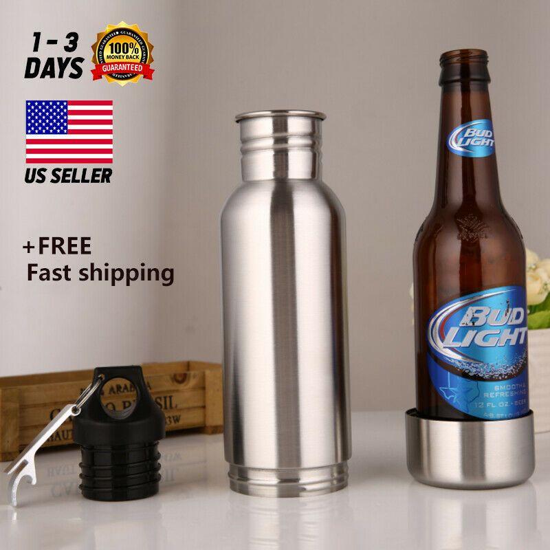 12oz Stainless Steel Beer Bottles Cold Insulated Beer Travel Bottle Beer US