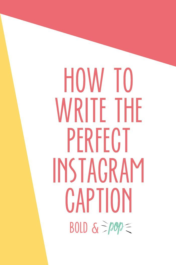 how to write the perfect instagram caption