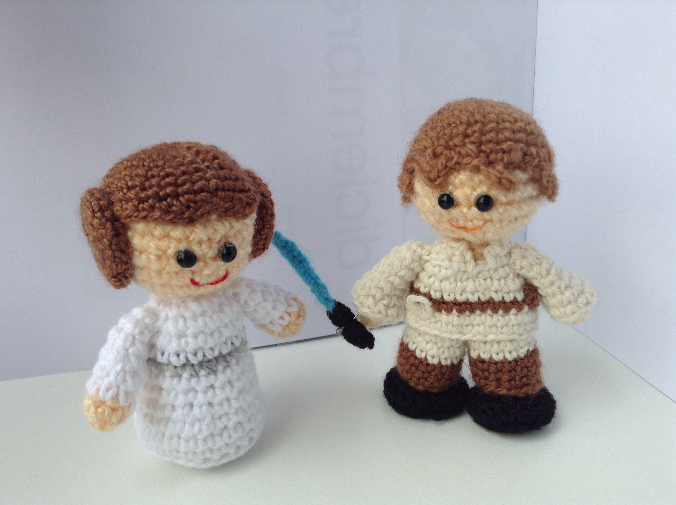 Amigurumi Star Wars : Leia luke skywalker crochet amigurumi star wars cute handmade