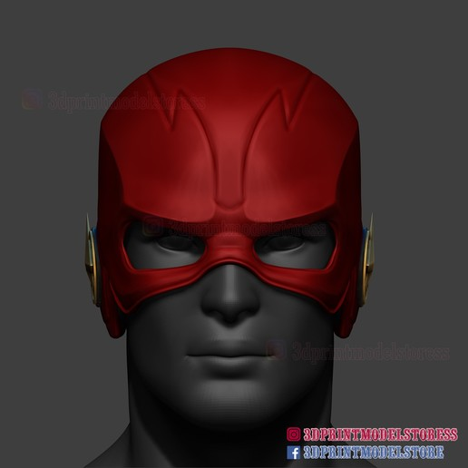 The Flash Helmet Season 5 Dc Comic Cosplay The Flash Season Cosplay Helmet Dc Comics Cosplay