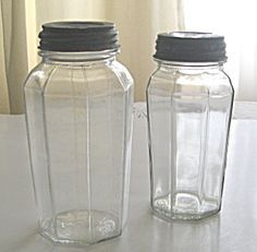 Set of Two House of Blues Collectible Mason Glass Jars