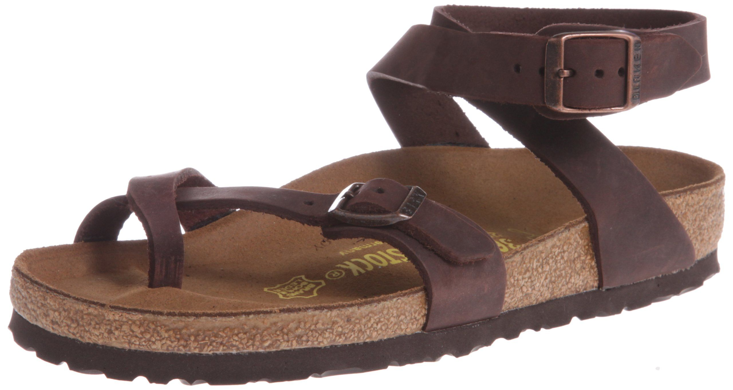 Birkenstock Arizona Slim Leather White, Schuhe, Sandalen & Hausschuhe, Sandalen, Braun, Female, 35