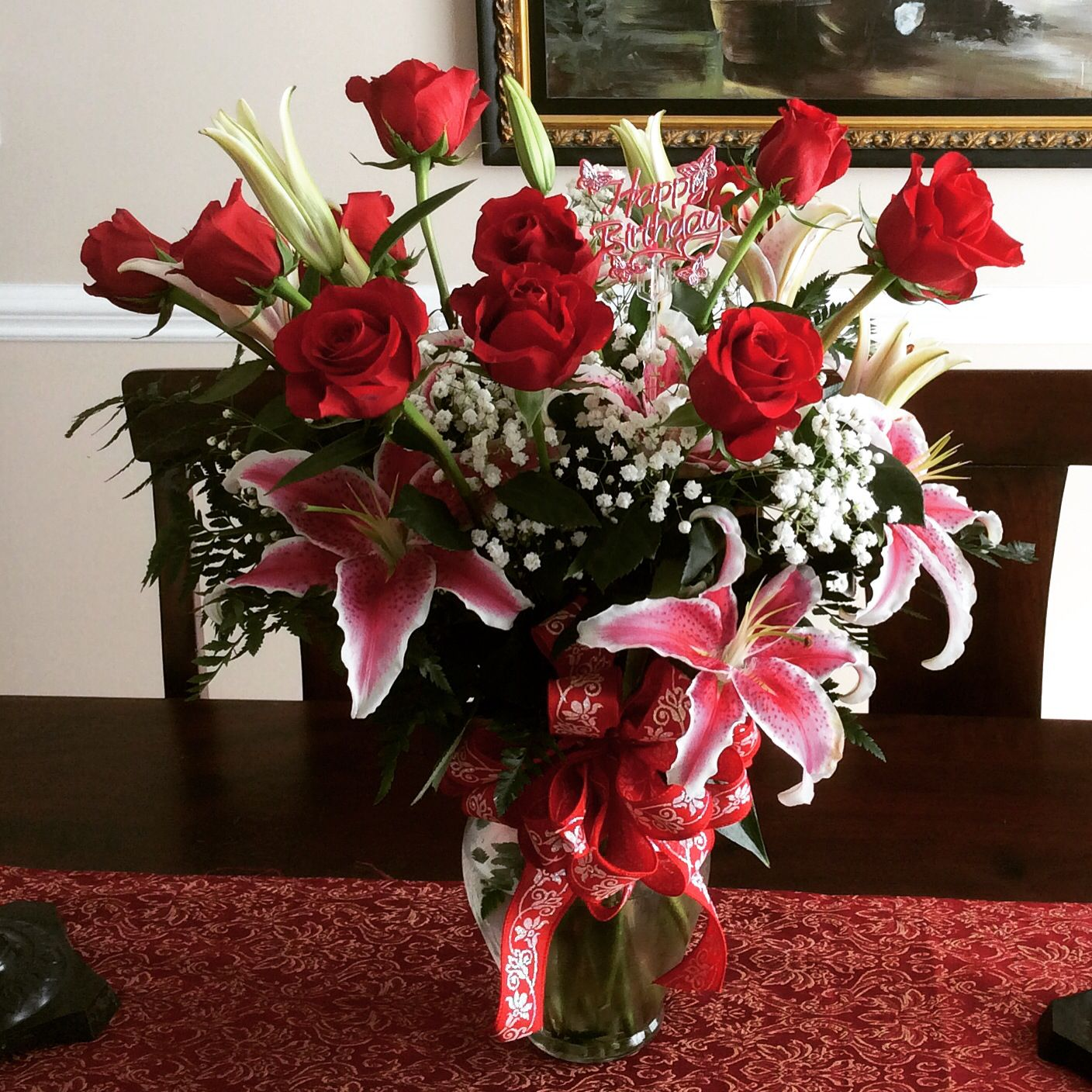 Beautiful Flowers I Got For Birthday Im A Lucky Girl Love It