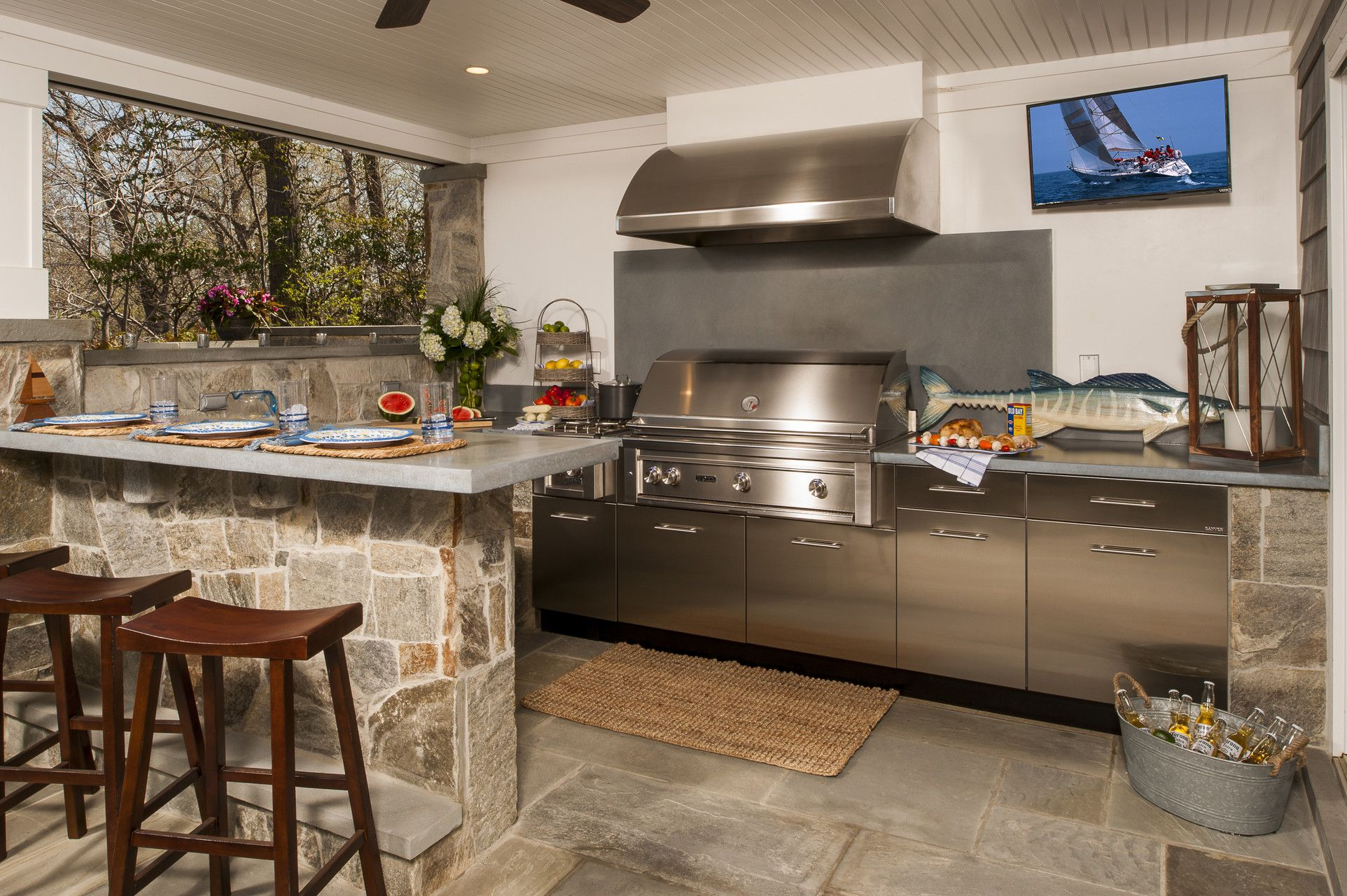 outdoor living spaces including kitchen see our variety of