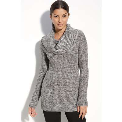 love the cowl neck and the pattern and that it's long enough to ...