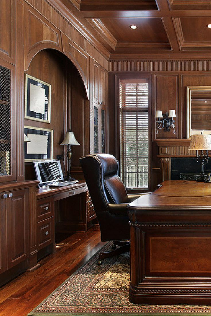 Wood Paneled Office: 53 Really Great Home Office Ideas (Photos)