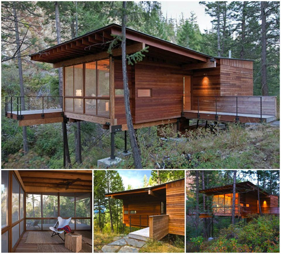 Cottage On Stilts By Andersson Wise Architects: Cabin On Flathead Lake, Montana Usa Andersson Wise