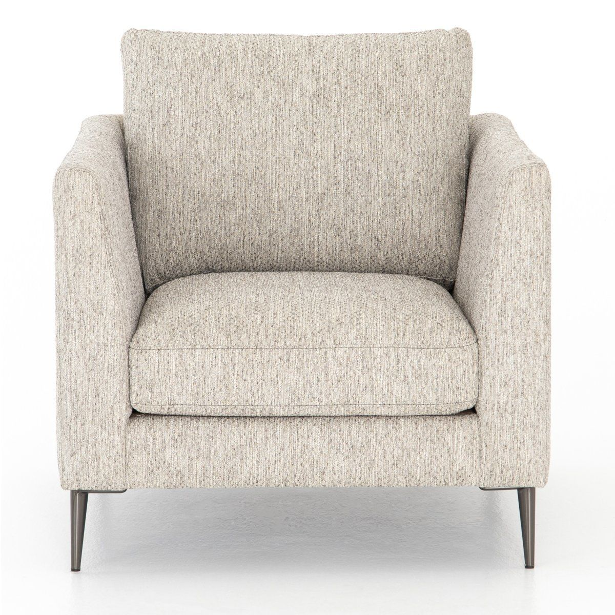 Kailor Modern Neutral Fabric Accent Chair Living Room Chairs
