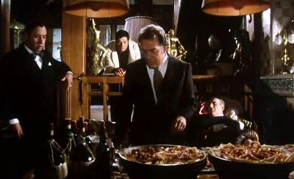 """Philippe Noiret, Marcello Mastroianni, Ugo Tognazzi e Michel Piccoli in """"La grande abbuffata"""""""