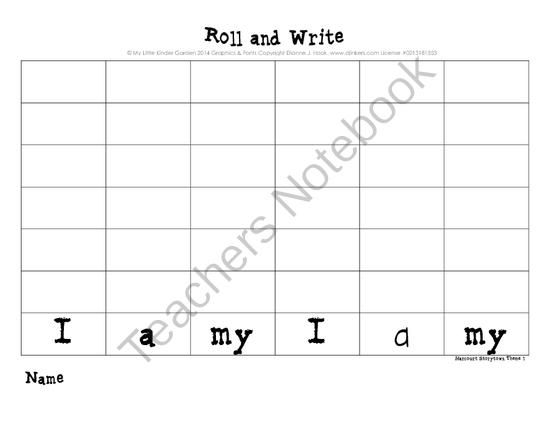Roll And Write For Harcourt StoryTown Kindergarten Themes 1
