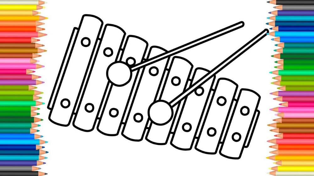 Xylophone Pictures To Print Doraemon In 2021 Abc Coloring Pages Coloring For Kids Print Pictures