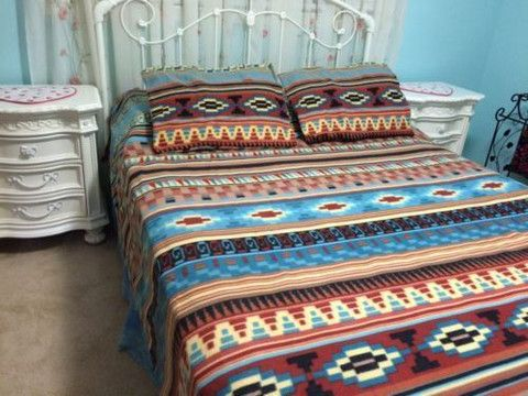 Quilt - Mesa Western 3Pc Fleece Bedding Set