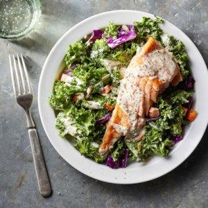 Healthy High-Protein Lunch Salads to Pack for Work #proteinlunch