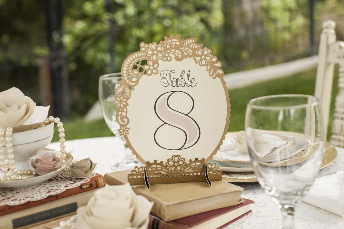 Superb Cricut Design Space Table Numbers Vintage Wedding Cricut Interior Design Ideas Clesiryabchikinfo