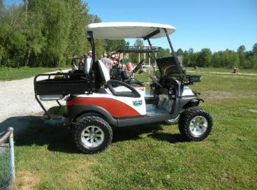 Custom Golf Cart designed for a Sporting Clay enthusiast!   sporting on shotgun gun carts, used sporting clays carts, stroller shooting carts,
