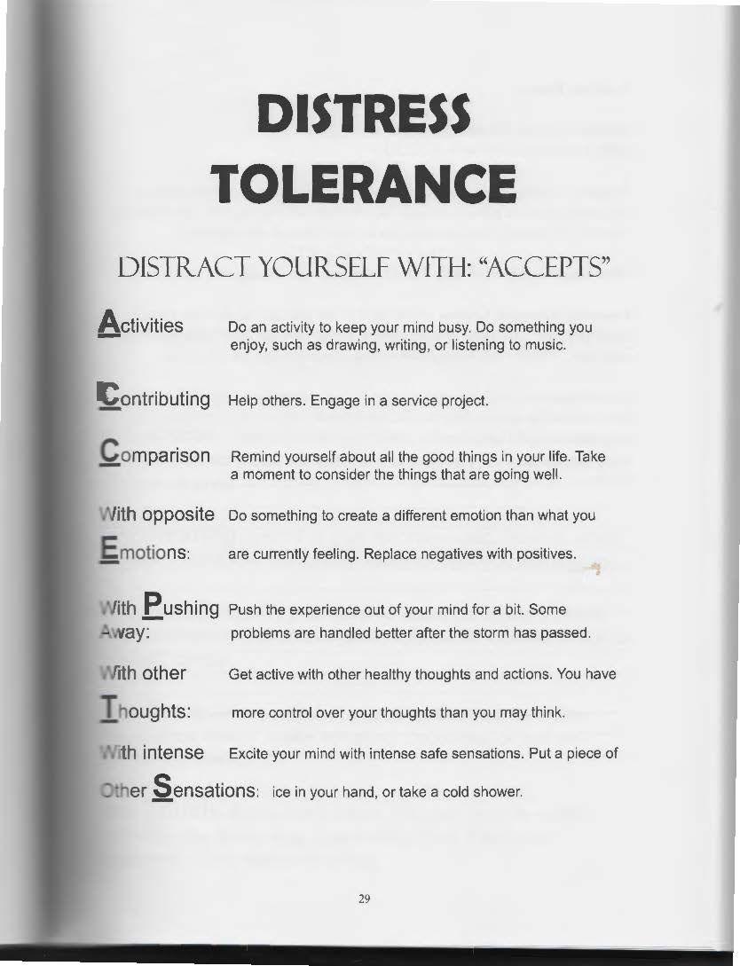 Workbooks dialectical behavior therapy skills workbook : The Art of Dialectical Behavior Therapy: Distress Tolerance | Dbt ...