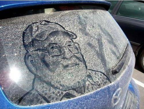 Art Is Col Art Is Cool Wonderful Art Pinterest Drawings - Scott wade makes wonderful art dusty car windows