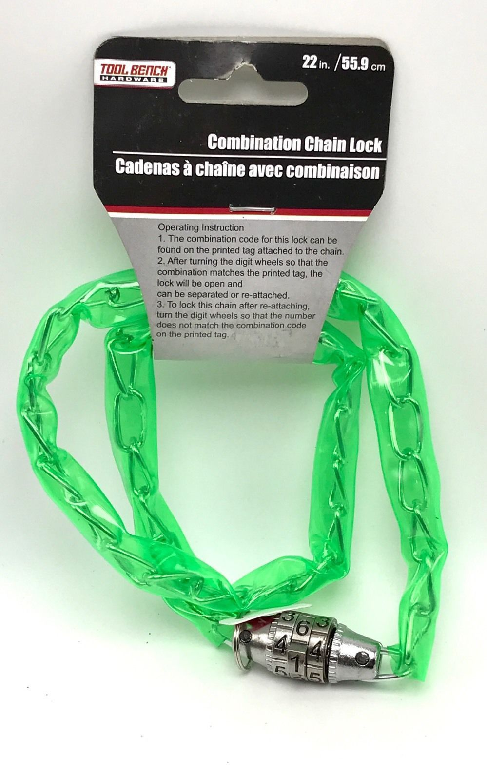 Sensational Bicycle Chain Combination Lock 22 Inch By Tool Bench Green Machost Co Dining Chair Design Ideas Machostcouk