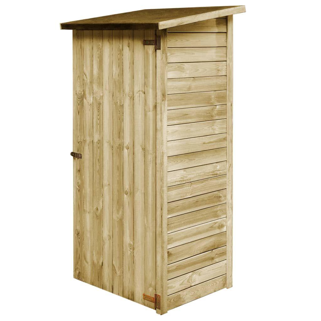 vida XL Garden Tool Shed Pine Impregnated 88x 76 …
