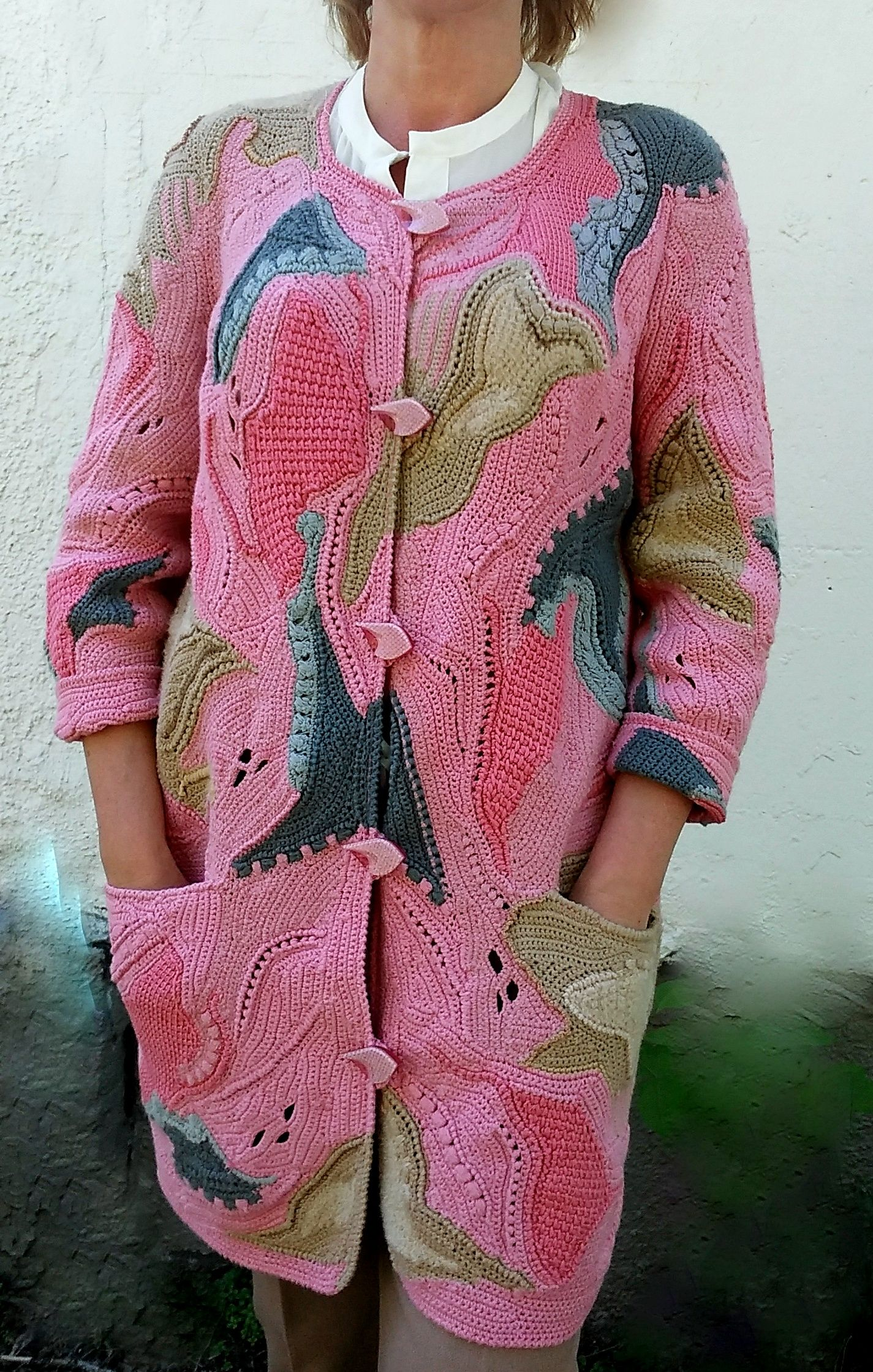 Pin by Irina Shliahtenok on Summer coat cardigan knitted crochet ...