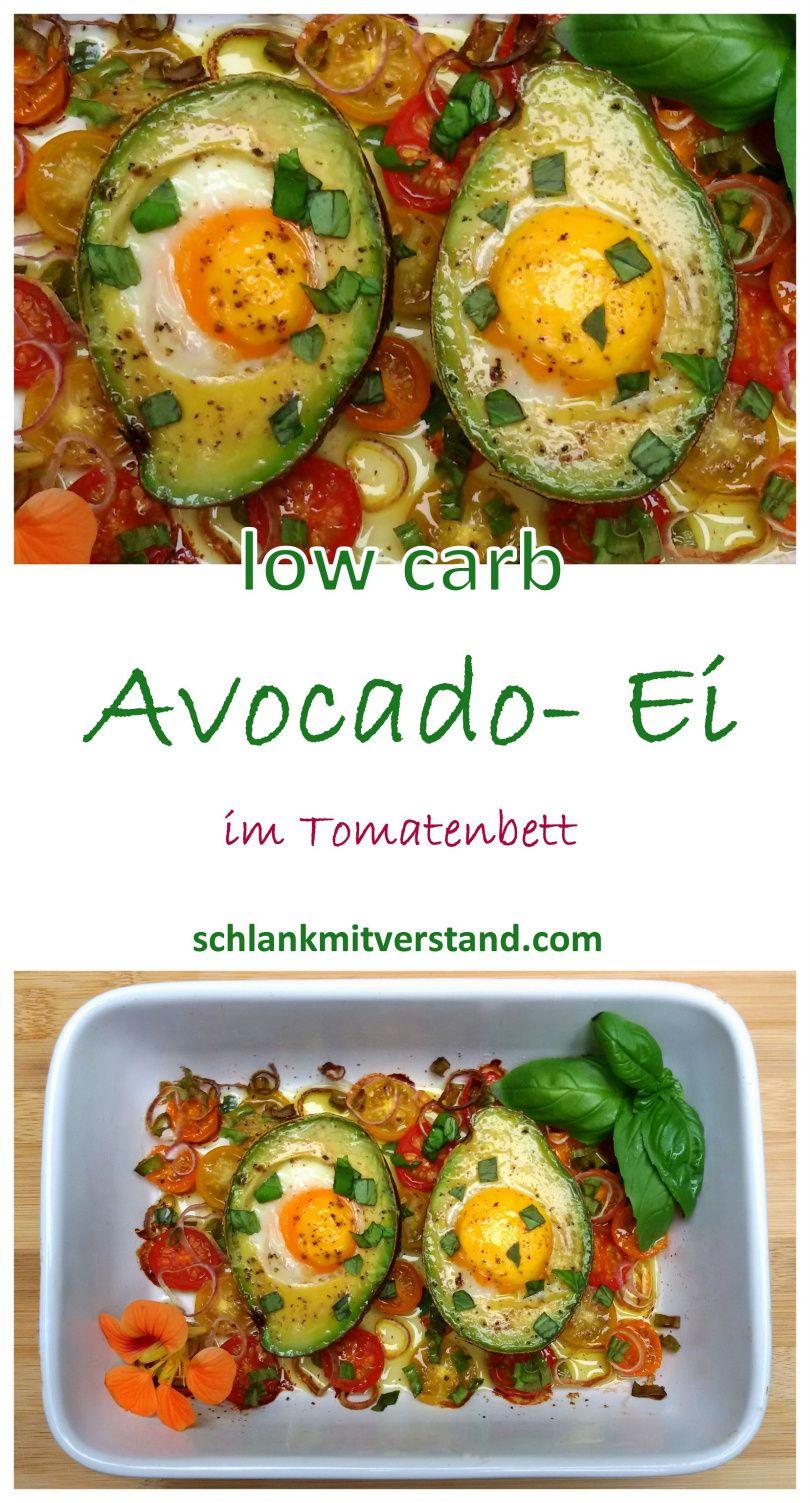 avocado ei im tomatenbett low carb low carb rezepte. Black Bedroom Furniture Sets. Home Design Ideas