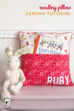 Free Sewing Pattern Reading Pillow 1g Because Im So Crafty