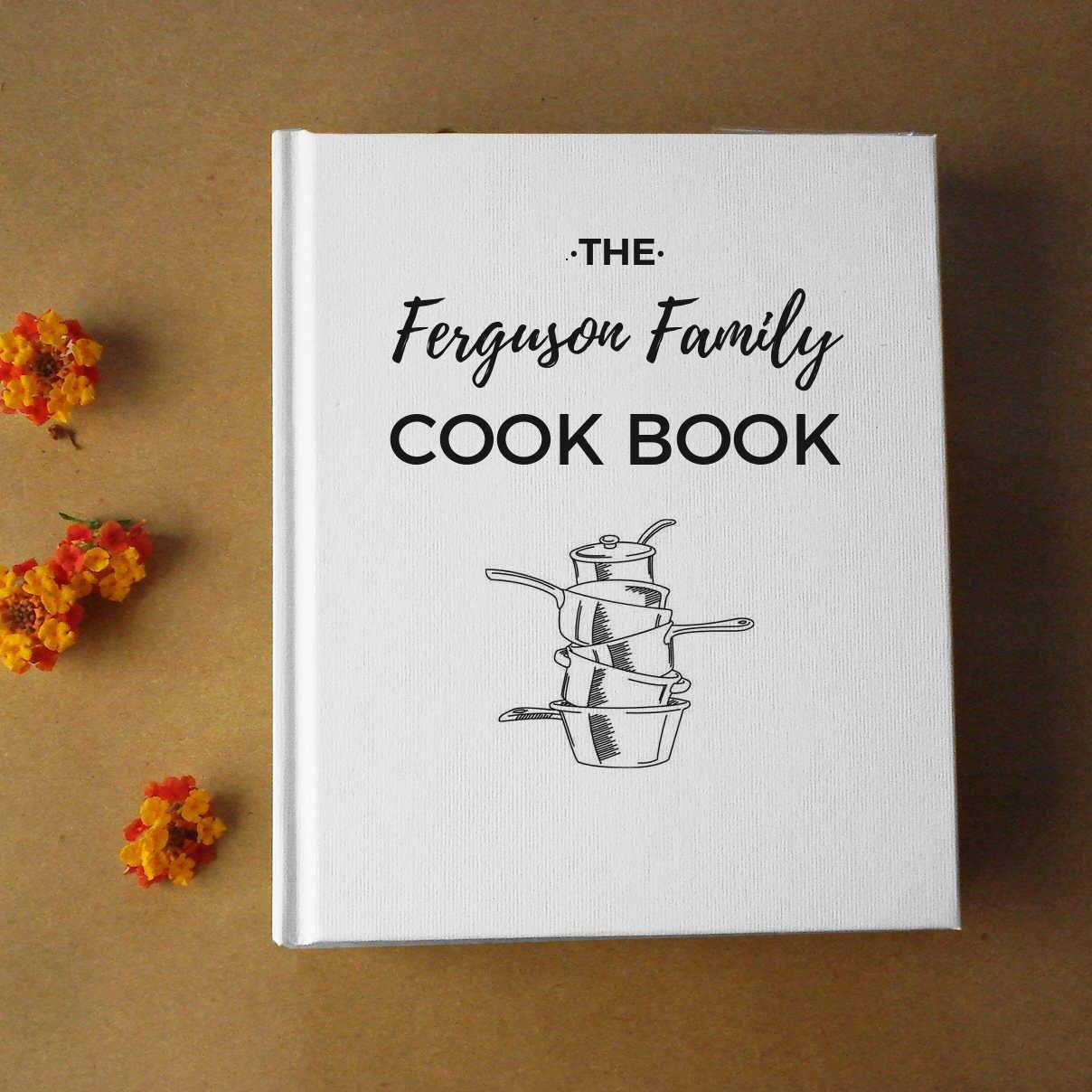 Free Shipping Custom Recipe Book Kitchen Journal Personalized Cookbook Family Recipe Notebook Personalized Cookbooks Recipe Book Design Family Recipe Book