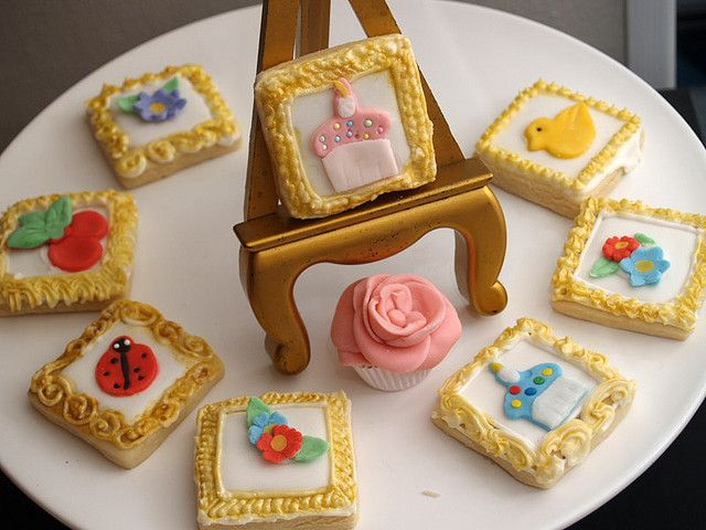 Framed Art Cookies by nikkicookiebaker, via Flickr