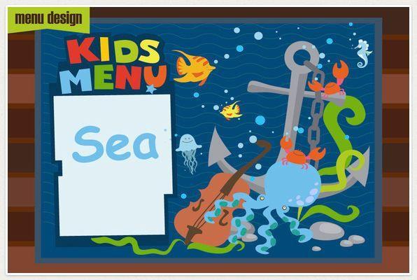 Kids Menu_Sea cartoons MENU KIDS Pinterest Restaurant menu - kids menu templates
