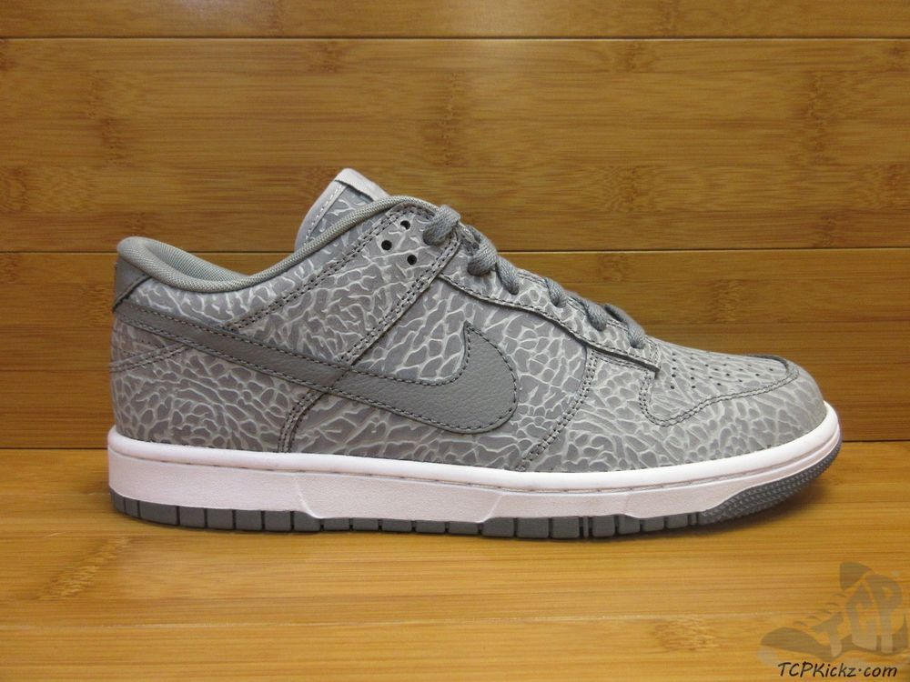 hot sale online 4dc85 8a939 Nike Air ID Dunk Low PRM ELEPHANT PRINT sz 9.5 IX Limited Rare Cool Grey  White  Nike  AthleticSneakers