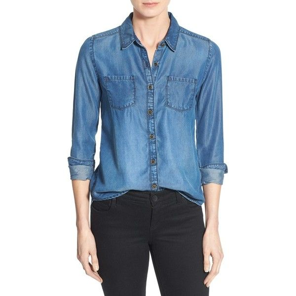 3c6064390a Women s Caslon Long Sleeve Denim Shirt (2