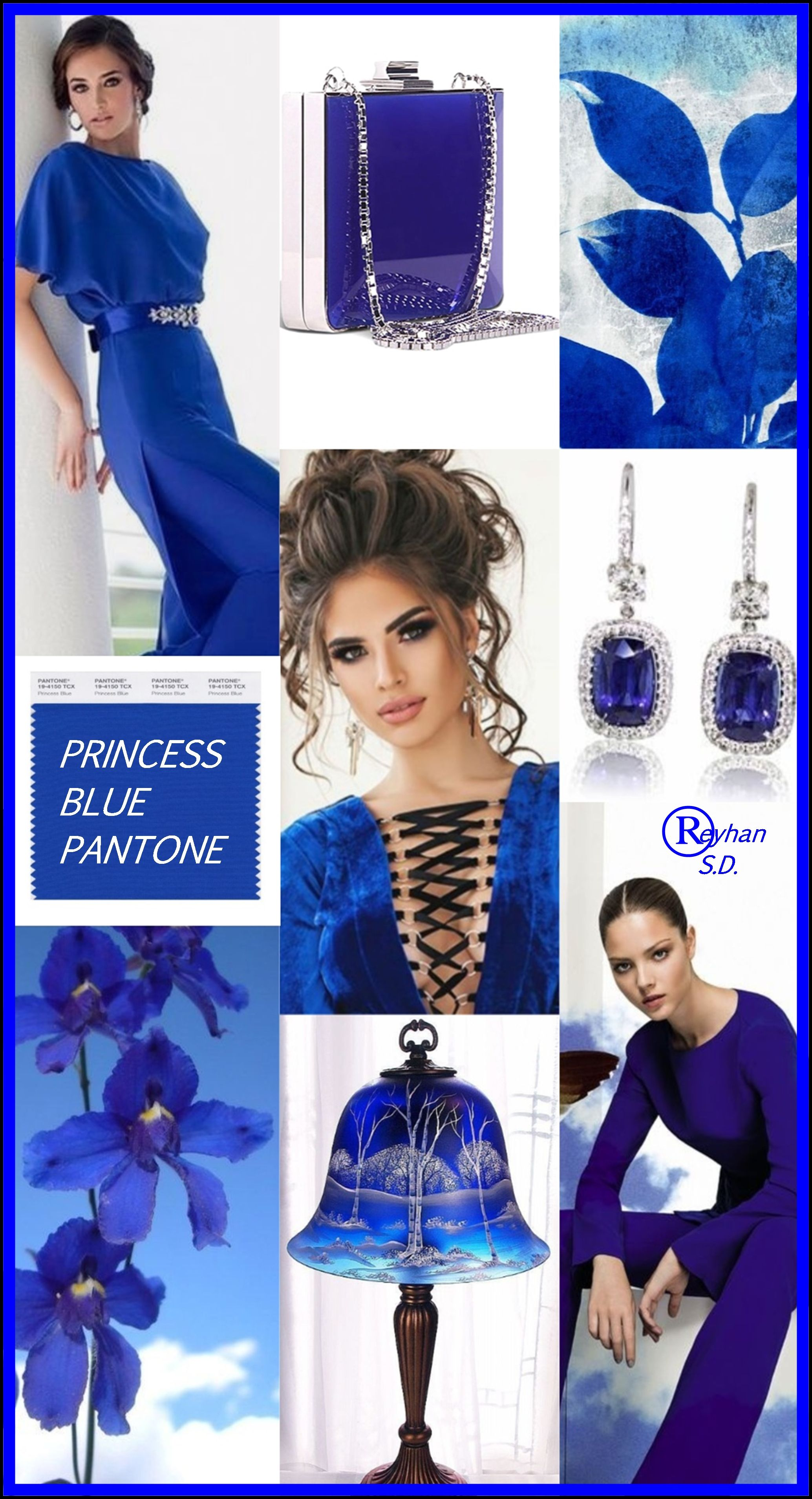 87f755db91 Princess Blue - Pantone Spring  Summer 2019 Color    by Reyhan S.D. ...