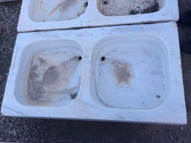 Fregadero de m rmol recuperado de 2 senos medidas 99 x 54 cm precio 480 euros lavabos de - Fregadero marmol ...