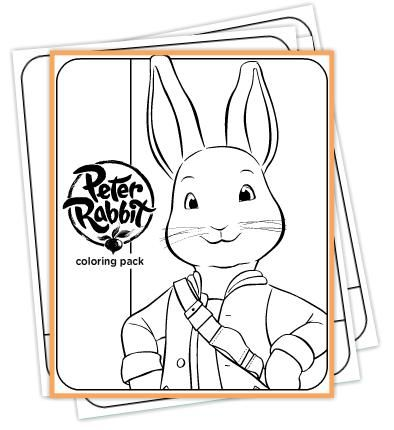 Peter Rabbit coloring pack. | Coloring Pages - Book Characters ...