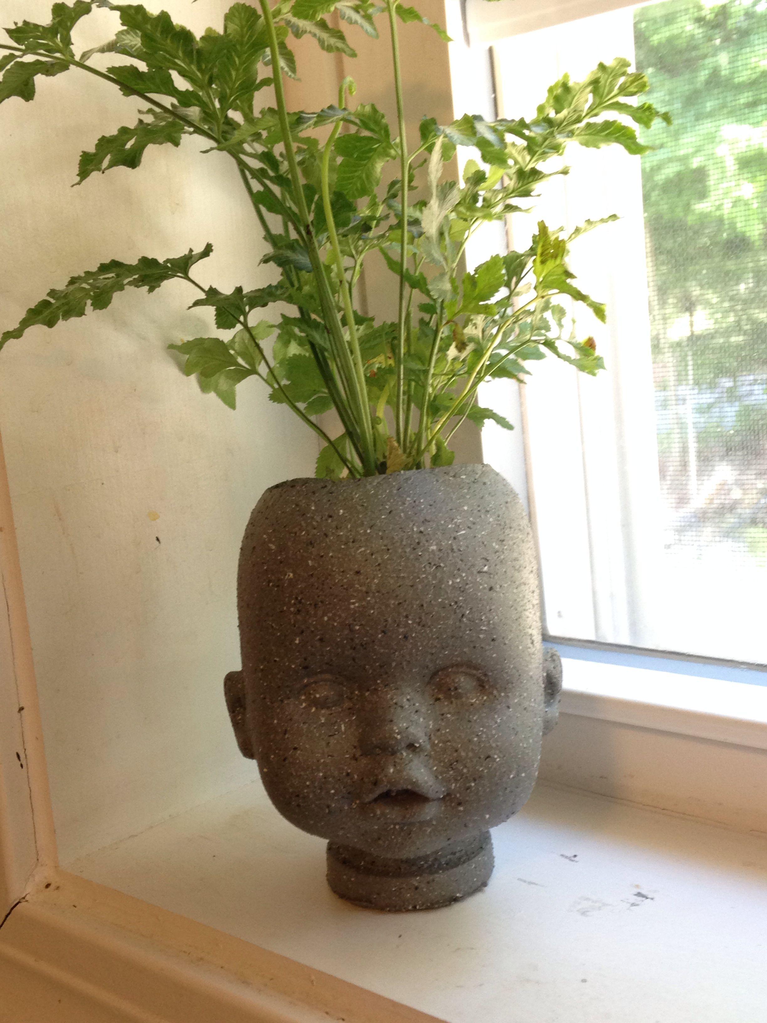 Diy Head Planter I Used A Cheap Baby Doll Sprayed The 400 x 300