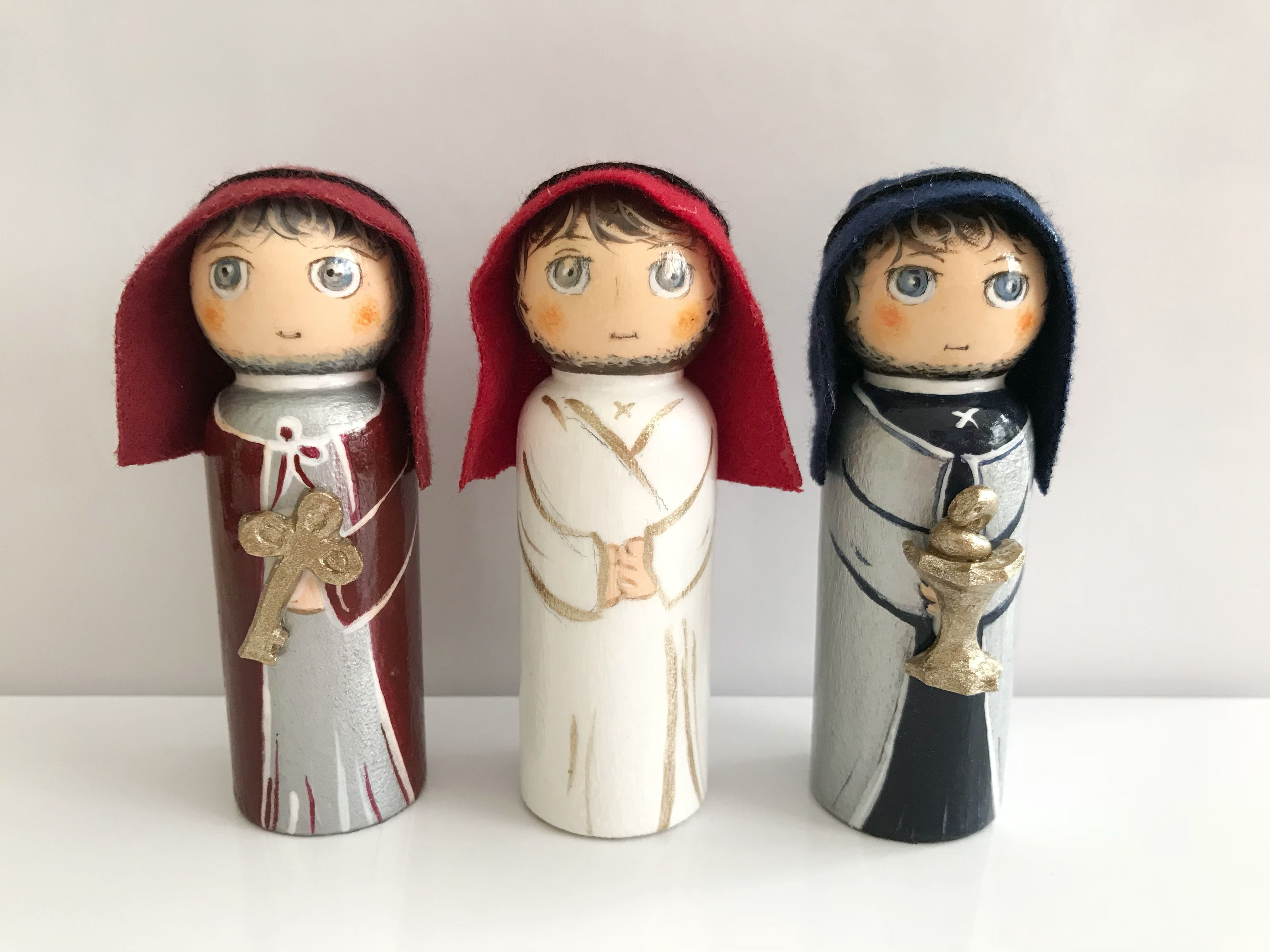 Last Supper Peg Doll Set Easter Apostles With Symbols Attributes