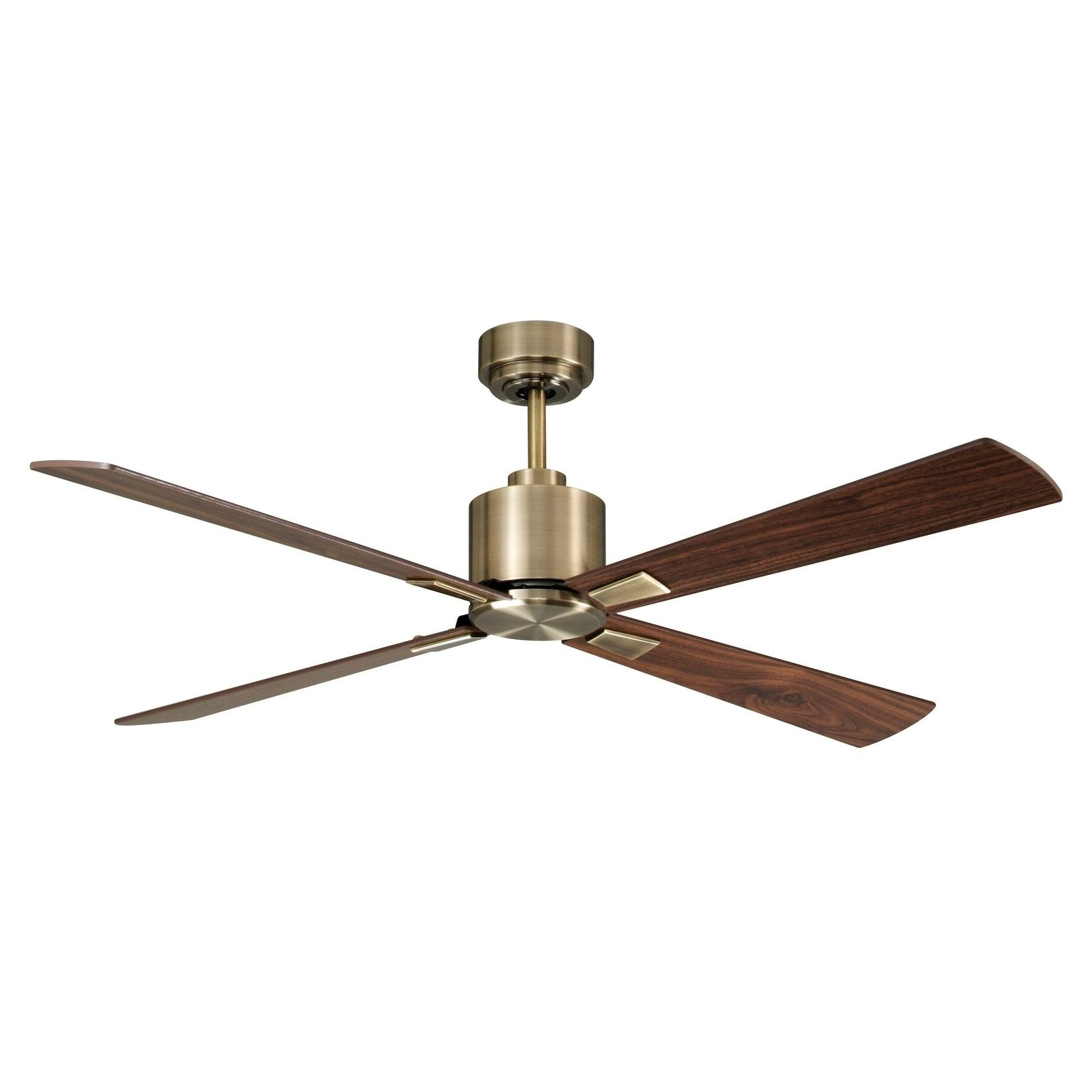 52 In Antique Brass Ceiling Fan with Remote Control Metal
